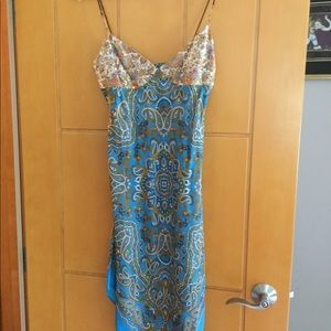 Laundry by Shelli Segal silk slip dress